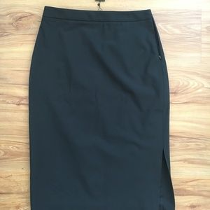 Black Italian Wool Pencil Skirt, Banana Republic